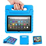 EVA Case for Fire HD 8 2020 with Handle | Blosomeet Full Body Protective Kid-Proof Cover for Fire HD 8 Plus 10th Gen 2020 Release | 2-Angle Foldable Stand | Rugged & Durable & Lightweight | Blue