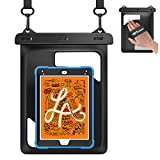 Weuiean Waterproof Case for iPad Mini 5/4/3/2/1 7.9 inch/Galaxy Tab A 8.0/7.0 inch with Lanyard Hand Strap for iPad Up to 7.9 inch/Samsung Tab Up to 8.0 Inch/Fire HD 8/7 Tablet Dry Bag - Black