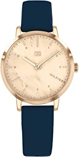 Tommy Hilfiger 1782040 Womens Quartz Watch, Analog Display and Leather Strap, Mother of Pearl