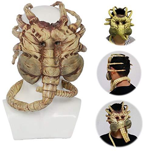 MTDH Halloween Horror Prop Alien Facehugger Mascarilla, Scary Scorpion Latex Face...