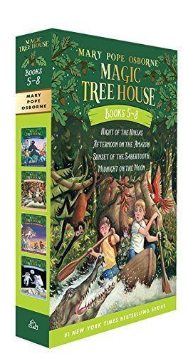 Magic Tree House Books 5-8 Boxed Set: Night of the Ninjas / Afternoon on the Amazon / Sunset of the Sabertooth / Midnight on the Moon (Magic Tree House (R))