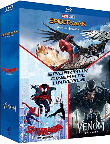 Coffret spider-man cinematic universe 3 films : homecoming ; new generation ; venom [Blu-ray] [FR Import]