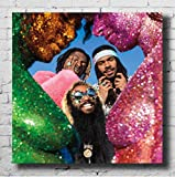 Swarouskll Flatbush Zombies Vacation in Hell Music Album Cover Art Canvas Wall Art Poster And Prints Painting for Home Decor Gift -50x50cm No Frame