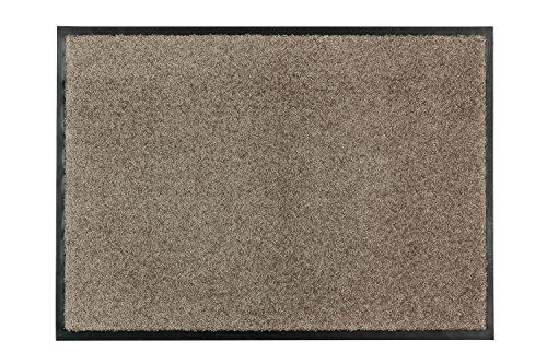 Broadway Fußmatte, Türmatte, Eingangsmatte, Vorleger Des. 001 Col. 007 beige in 3 Größen, hohe Schmutzaufnahme, saugfähig und waschbar bei 30 Grad