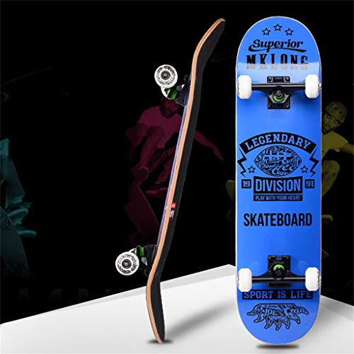 Skateboard Komplett Board 31x8 Zoll Skateboard, geeignet für Anfänger im Teenageralter Pro Komplettes Skateboard, Mädchen, Junge, Kind, Erwachsener, 7-lagiges Ahorn-Skateboard, Allrad-Skateboard-Bal
