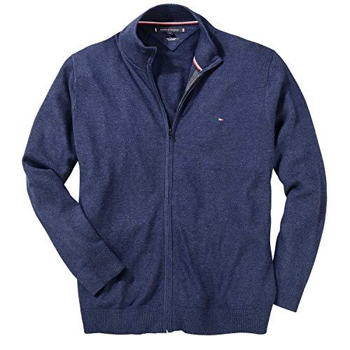 Tommy Hilfiger MW0MW07860-031 Pima Cotton-Cashmere Full-Zip Cardigan Blu Navy (XXXXL, Blu Navvy)