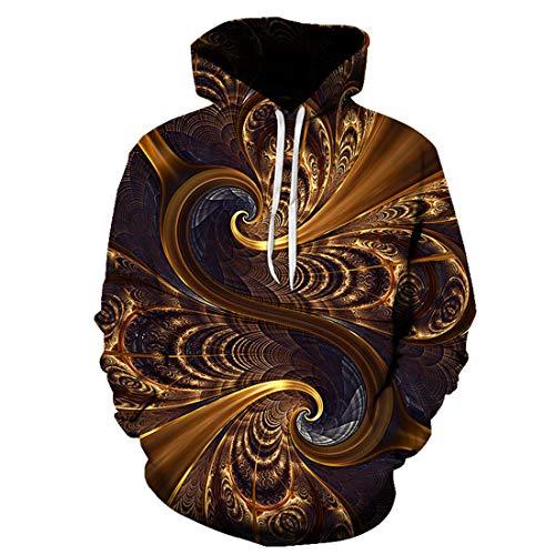 DOLAA Unisex Hoodies HD 3D Print Pullover Leichte Taschen Unisex Pullover Hoodie für Männer Frauen Langarm Kordelzug Kapuzenpullover in voller Größe mit Taschen 3D Printed Hoodie für Männer Langarm