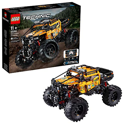 LEGO42099TechnicControl+4x4X-tremeOff-RoaderTruck,AppControlledConstructionSet,InteractiveMotorsandBluetoothConnectivity