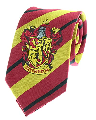 Premium Harry Potter Tie Striped House Crest Necktie (Gryffindor)