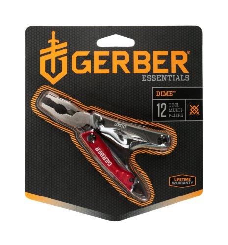 Gamo Outdoor Blister Herramienta de Caza, Gerber Multitools Dime Mini-Tool Red, Clam, Grau, 22-31-001040, Rojo, Talla Única