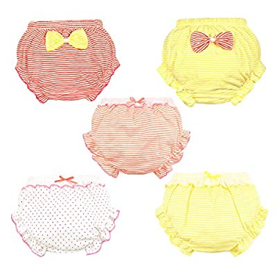 NinkyNonk Baby Girls Diaper Cover Bloomers Infant Briefs Stretchy Ruffle Soft Cotton Underwear Panties for Toddler Girls 0-4T