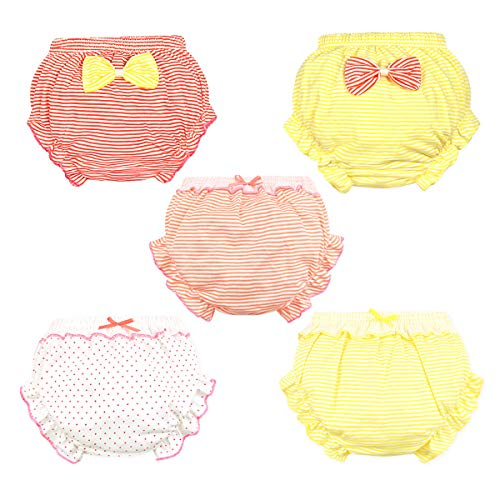 NinkyNonk Baby Girls Diaper Cover Bloomers Stretchy Ruffle Soft Cotton Underwear Panties for Toddler