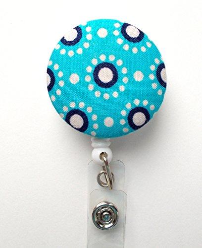Blue and Navy Circles - Nurse Badge Holder - Flower Badge Reel - Retractable Badge Reel - Teacher Badge - Cute Badge Reel - Hospital Badge - Nurse - Badge Pull - Lanyard - Pretty Badge Reel Photo #4