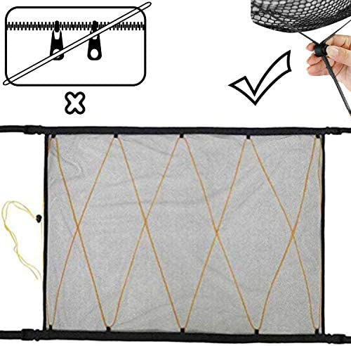 ZATOOTO SUV Ceiling Cargo Net Pocket Car Roof Long Trip Storage Bag Tent Putting Quilt Children product image