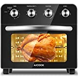 Aicook Air Fryer Oven 23L Large Convection Mini Oven Electric with Rotisserie and Grill Function, 4 Knobs Control Easy to Use, 6 Accessories & 75 Recipes Included, 1700W