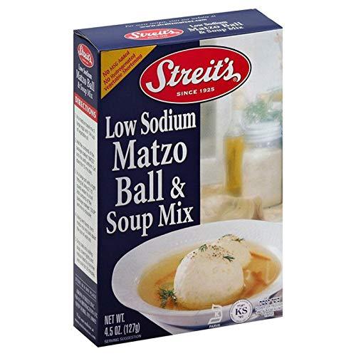 Streit's Low Sodium Matzo Ball and Soup Mix, Kosher Certified, 4
