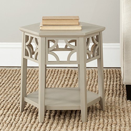 Safavieh American Homes Collection Connor Pearl Taupe Hexagon End Table