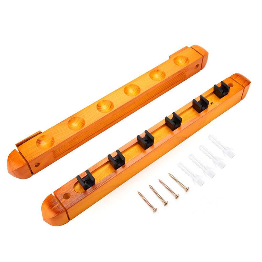Rack de pared de madera para tacos de billar, Rack de tacos de billar de madera