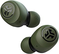JLab Audio Go Air True Wireless Bluetooth Earbuds + Charging Case | Green | Dual Connect | IP44 Sweat Resistance | Bluetooth 5.0 Connection | 3 EQ Sound Settings: JLab Signature, Balanced, Bass Boost