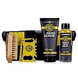 Accentra Geschenkset Bath & Body Tools für Männer, Shampoo und Duschgel, Handpeeling,...