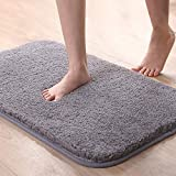 Astory Super Soft Bath Rugs Floor Mat, Water Absorbent Bath Mat Anti-Skid Bedroom Area Rugs Fluffy Shaggy Area Carpet Nursery Rugs Kids Mat Suitable For Bathroom/Bedroom/Kitchen (Gray, 31.5 * 19.7in)
