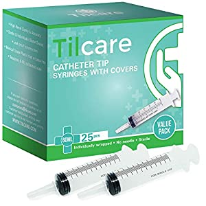 buy  60ml Catheter Tip Syringe with Covers 25 Pack by ... Diabetes Care
