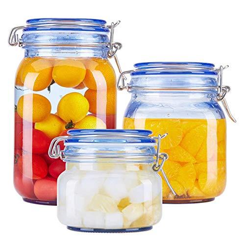 YJHH Container Aufbewahrungsbox, Stapelbare Vorratsdosen, Frischhaltedosen Mit Deckel, Transparent Wasserdicht Grosse Kapazität Stapelbar Langlebiger Für Obst Gemüse Fleisch Ei