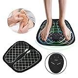 IVYSHION Masseur de Pieds, Masseurs Électriques pour Les Pieds Appareil de Massage de Pied Électrique Stimulateur Circulatoire 6 Modes de Réglables 10 Niveaux Chargement USB