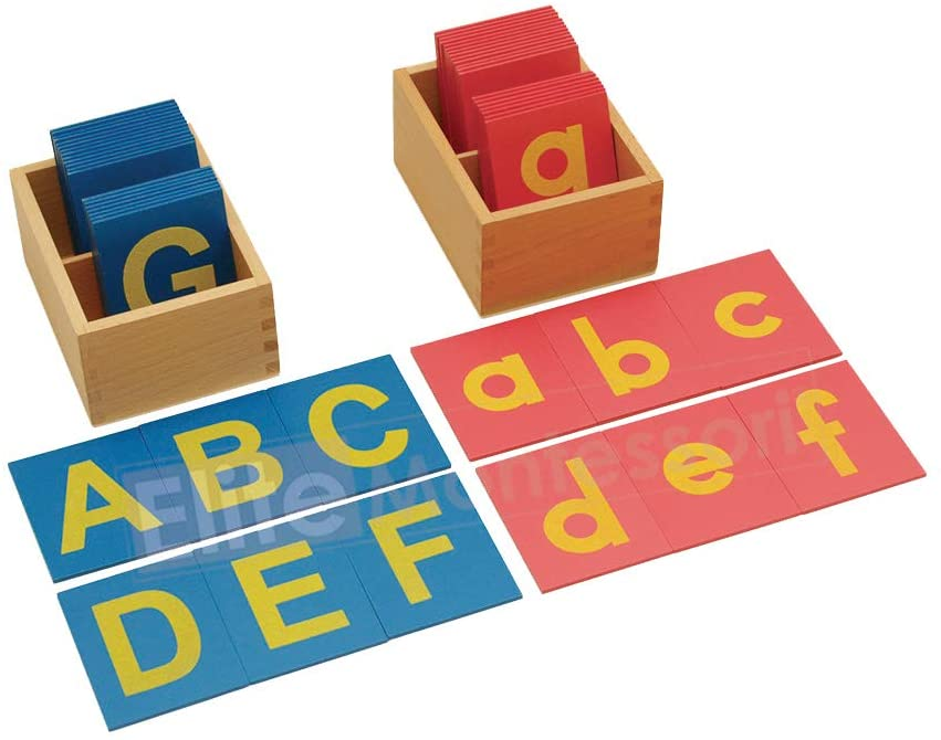 Elite Montessori Lower New product type and Capital Case with Max 60% OFF Letters B Sandpaper