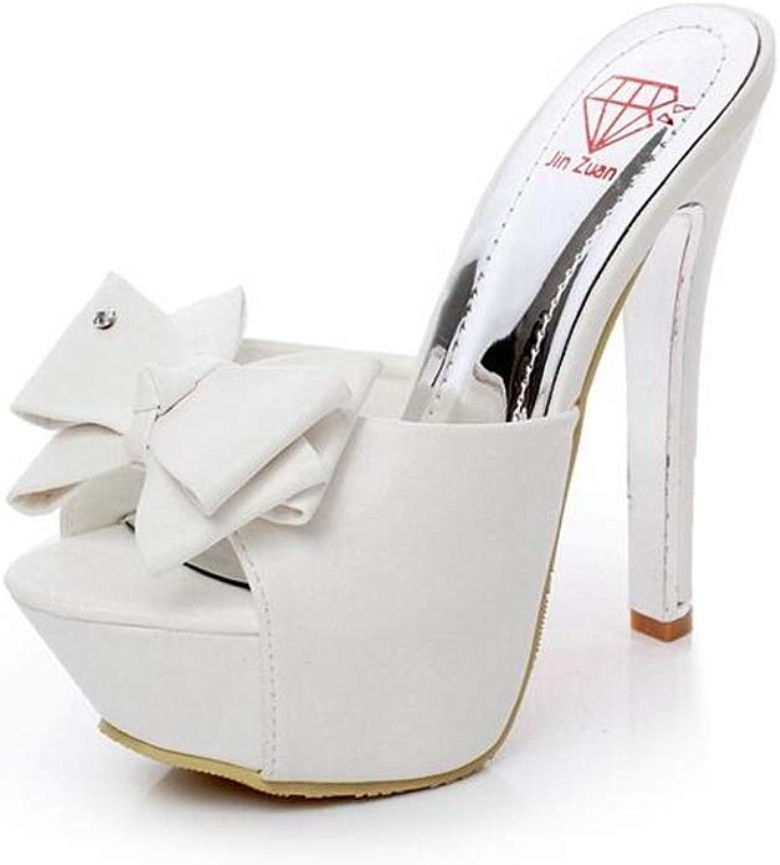CHENGLing Women's shoes Open Toe Chunky High Heel Platform Dress Sandals