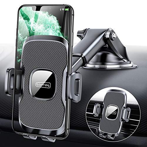 Handyhalterung Auto, Universale Kfz Handyhalter fürs Auto Lüftung & Saugnapf Handy Halterung Fürs Auto 100{b6e898bf1867f5f47d6451a9e9e48d31c61d24202083281fca0ff5098697e4e5} Silikon Schutz Auto Smartphone Halterungen für iPhone Samsung Huawei Mate Xiaomi LG usw