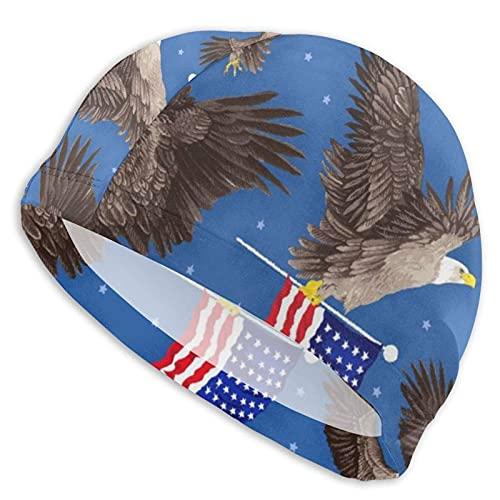 Gorro Natación Bandera Americana, y, águila Gorro de...