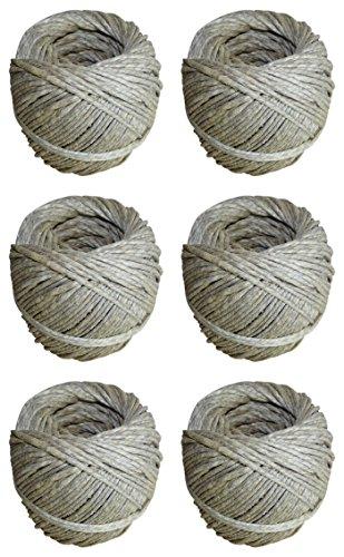 6 rotoli di corda di canapa da giardino/per bricolage, lunghezza 100 metri