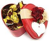 Zaini Galletas Cubiertas con Chocolate con Leche Cioco Biscò en Caja de Lata de Corazón para el Día de San Valentín, Amantes y Novios - Idea de Regalo Hecha con Amor (20 Galletas de Chocolate)