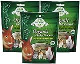 (3 Pack) Oxbow Animal Health Barley Biscuits Bene Terra Organic Food and Treats, 2.65-Ounce