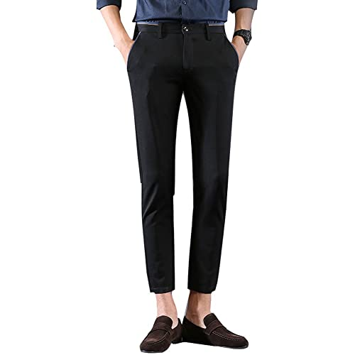 bf495306bf624 Plaid Plain Men s Stretch Skinny Fit Casual Business Pants Ankle Dress Pants