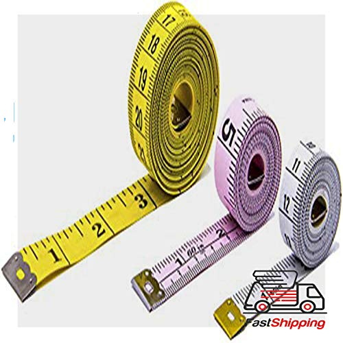 """Best Body Tape Measure - Soft Tape Measure Measure Tape for Body 3 Pack Double Scale Measurement Tape Set for Sewing, Body, Tailor 60/120"""""""