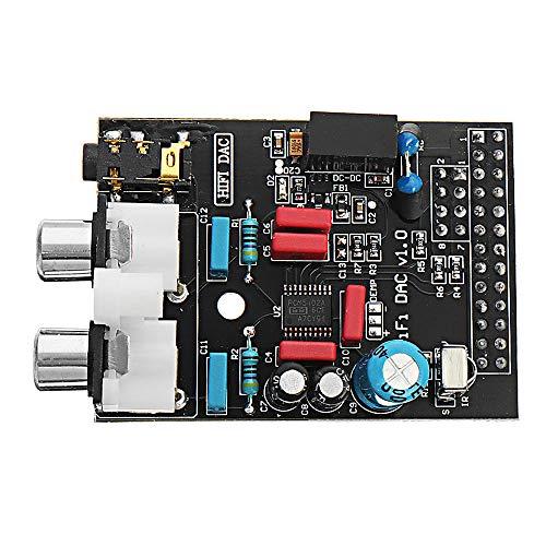 weichuang Elektronisches Zubehör Hi-Fi DAC Audio Soundkarte Modul I2S Interface Expansion Board für RPi Modell B Elektronikteile Elektronikzubehör