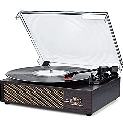 top 10 portable vinyl player Turntable wireless portable LP gramophone, 3-way with built-in stereo speakers …