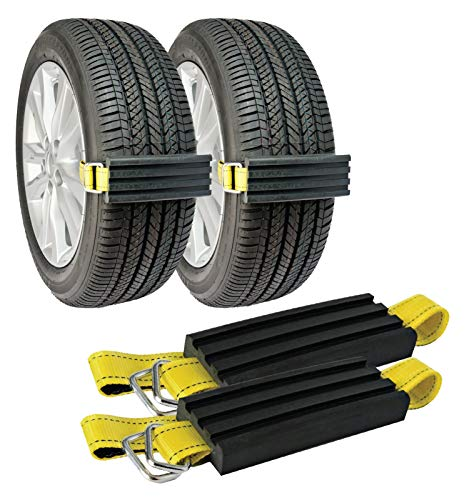 TRACGRABBER Trac-Grabber – Snow, Mud and Sand Tire Traction Device, Set of 2 – for Cars and Small SUVs, Easy to Install – A Snow Traction Mat Alternative – Get Unstuck