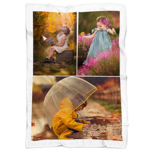 Daiwen Manta Personalizada con Foto Manta de Collage Personalizada para Mascotas Familiares Amigos y día de San Valentín, cumpleaños, Bodas, Regalos para Parejas