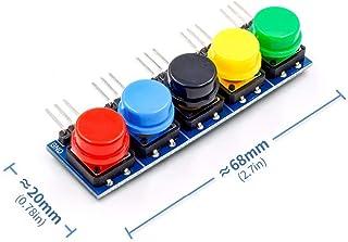 Yoneix 5pcs/Set Electronic Building Blocks Big Key Button Module Large Button Module Five Key Model for Arduino(1PCS)