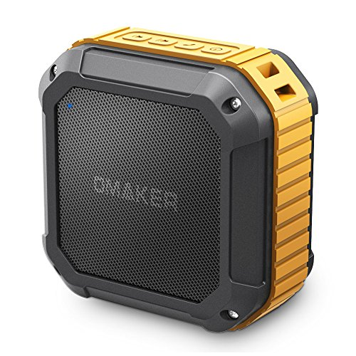 Omaker M4 Portable Bluetooth 4.0 Speaker with 12 Hour Playtime for Outdoors or Shower(Orange)