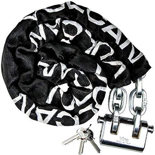 VULCAN Premium Case-Hardened Security Chain and Lock Kit -...