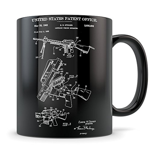 AR 15 Gifts for Men and Women - AR-15 Mug for Rifle Enthusiasts - Best Gun Themed Gift Idea - Cool Semi Automatic Invention Patent