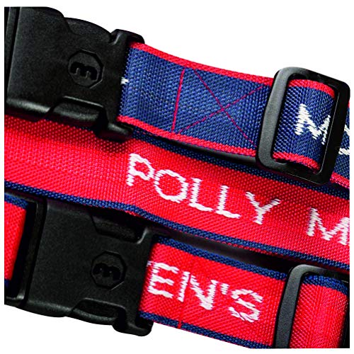 Luggage Straps Personalised Woven with name - Now with a Key Lock (Red - 1 Strap)