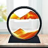 CKAN Moving Sand Art Picture - Reloj Arena Redondo 3D con Marco de Arena Fluido, Decoración para Hogar