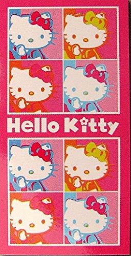 Hello Kitty Pop Art–Toalla de baño, Playa, toalla de mano–150cm x 75cm–100% algodón–Envío Inmediato a partir de almacenamiento