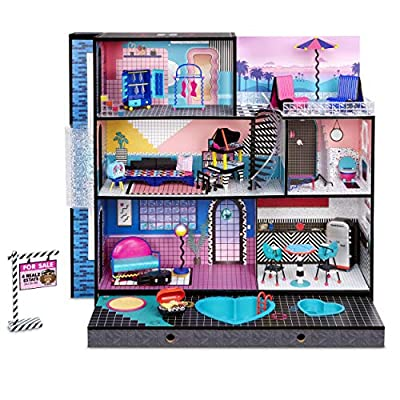 L.O.L. Surprise! O.M.G. House – New Real Wood Doll House with 85+ Surprises by MGA Entertainment