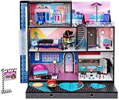 LOL Surprise OMG House – New Real Wood Doll House with 85+ Surprises | 3 Stories, 6 Rooms including Elevator, Tub, Pool...